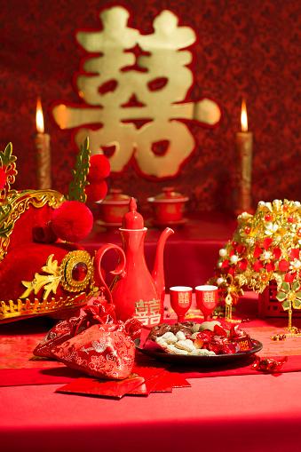恋愛運「Traditional Chinese wedding elements」:スマホ壁紙(4)