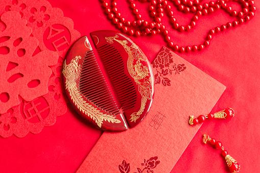 恋愛運「Traditional Chinese wedding elements」:スマホ壁紙(17)