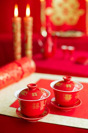 恋愛運「Traditional Chinese wedding elements」:スマホ壁紙(7)