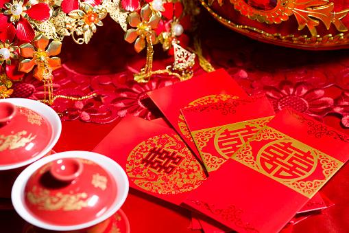 恋愛運「Traditional Chinese wedding elements」:スマホ壁紙(5)
