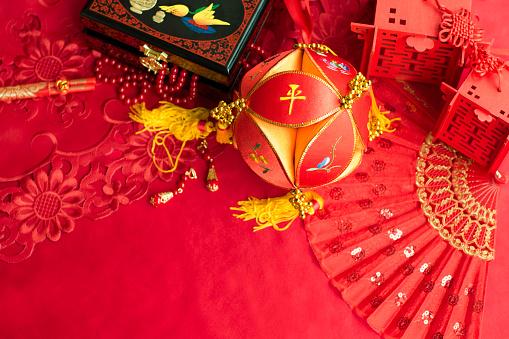 恋愛運「Traditional Chinese wedding elements」:スマホ壁紙(11)