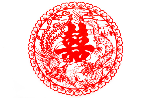 Dragon「Traditional Chinese wedding elements」:スマホ壁紙(10)