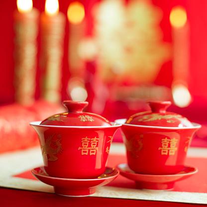 恋愛運「Traditional Chinese wedding elements」:スマホ壁紙(3)