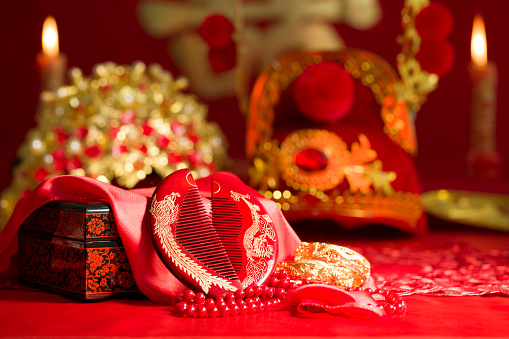 結婚「Traditional Chinese wedding elements」:スマホ壁紙(13)