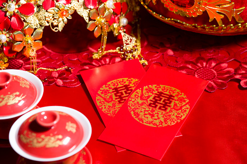 恋愛運「Traditional Chinese wedding elements」:スマホ壁紙(12)