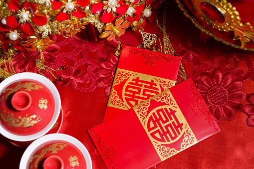 恋愛運「Traditional Chinese wedding elements」:スマホ壁紙(6)