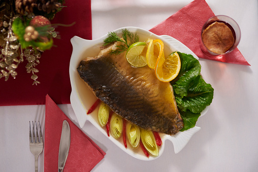 Carp「Traditional Polish fish on the table. Debica, Poland」:スマホ壁紙(16)
