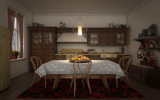 Dining Room「Traditional Eastern European Domestic Kitchen」:スマホ壁紙(15)