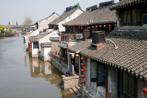 Chinese Lantern「Traditional Suzhou houses on river」:スマホ壁紙(18)