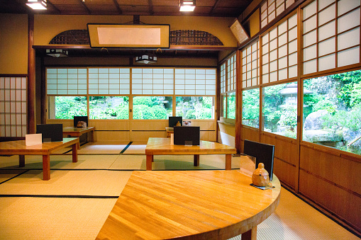 Restaurant「Traditional Japanese coffee shop dining room restaurant cafe」:スマホ壁紙(3)