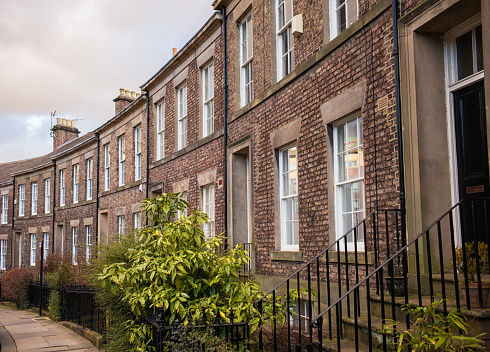 19th Century「Traditional English terraced houses in Newcastle」:スマホ壁紙(0)