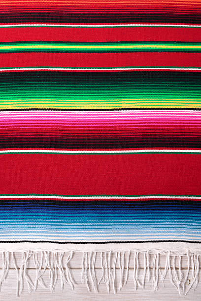 Traditional Mexican red striped serape blanket:スマホ壁紙(壁紙.com)