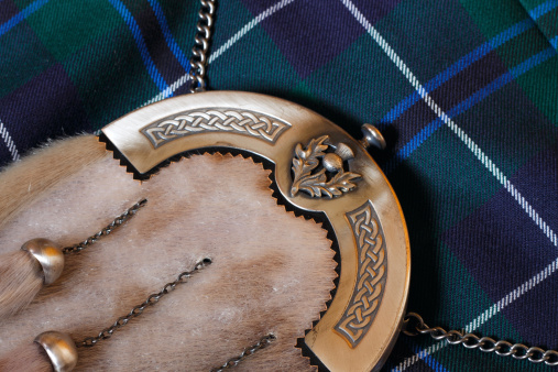 Tartan check「伝統的なスコットランドのスポランとキルト」:スマホ壁紙(6)