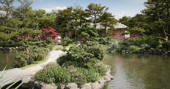 Japanese Maple「Traditional Japanese Garden」:スマホ壁紙(1)