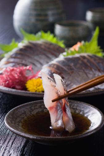 Sake「Horse Mackerel Sashimi Dipped into Soy Sauce」:スマホ壁紙(1)