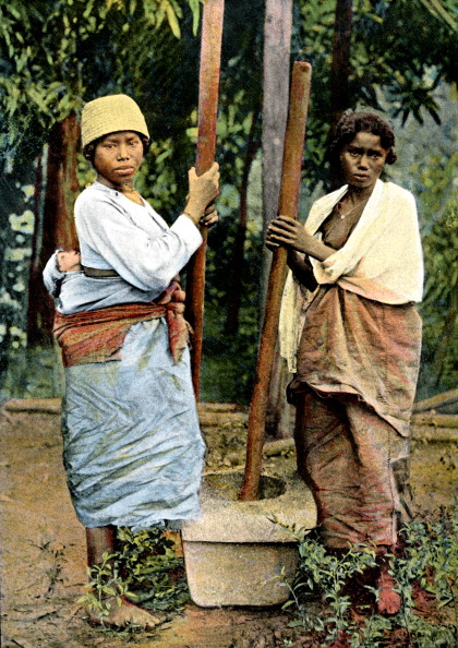 Mortar and Pestle「Women pounding rice, Madagascar, late 19th century.」:写真・画像(19)[壁紙.com]