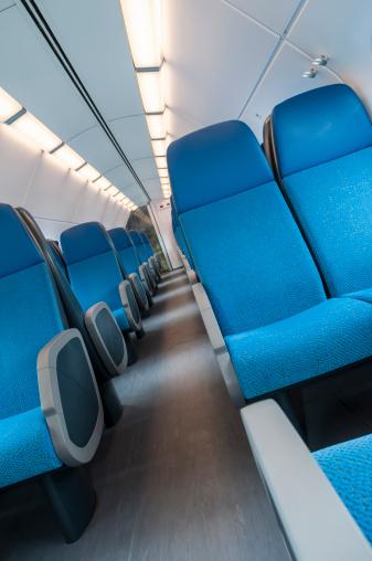 Passenger Cabin「Blue train interior」:スマホ壁紙(12)