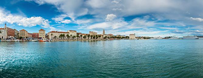 アドリア海「Croatia, Split, view to waterfront promenade」:スマホ壁紙(17)