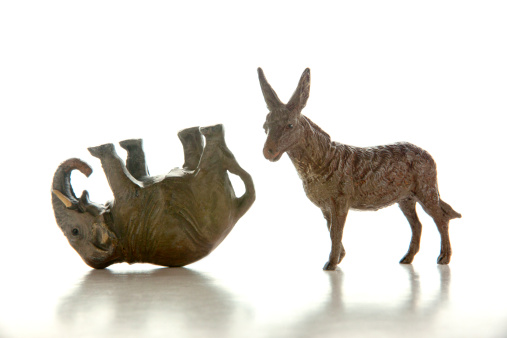 US Republican Party「Donkey and defeated elephant miniatures」:スマホ壁紙(14)