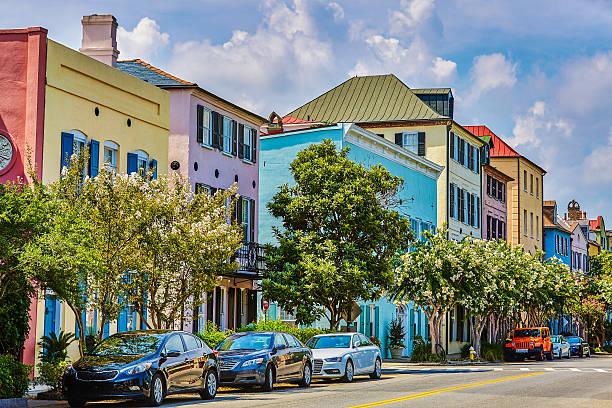 Rainbow Row, Charleston, South Carolina:スマホ壁紙(壁紙.com)