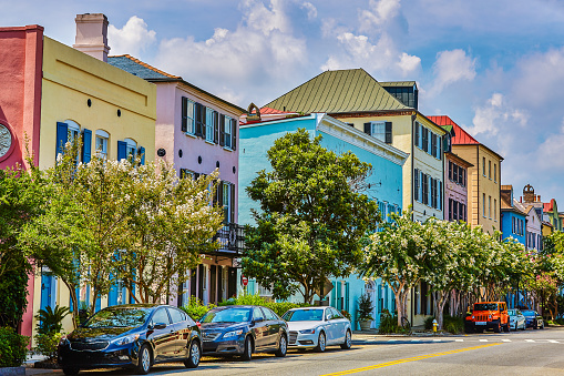 Charleston - South Carolina「Rainbow Row, Charleston, South Carolina」:スマホ壁紙(10)