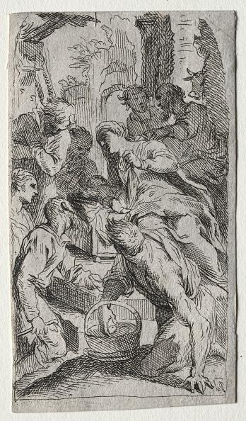 Etching「The Nativity. Creator: Unknown.」:写真・画像(2)[壁紙.com]