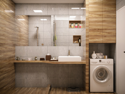 Fashion「Computer generated image of bathroom. Architectural Visualization. 3D rendering.」:スマホ壁紙(16)