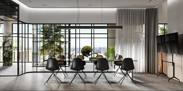 New Business「Computer generated image of an office boardroom」:スマホ壁紙(19)