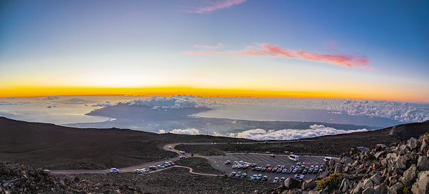 Pukalani「Haleakala Peak Crater at Haleakala National Park at sunset,Maui,Hawaii,USA」:スマホ壁紙(15)