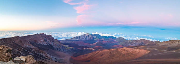 Pukalani「Haleakala Peak Crater at Haleakala National Park at sunset,Maui,Hawaii,USA」:スマホ壁紙(5)