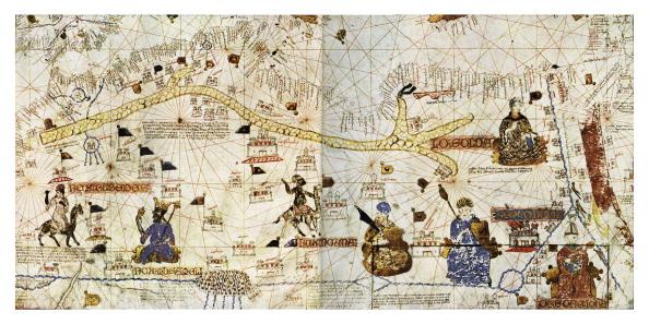 Circa 15th Century「Caravan routes of the Sahara in 1413」:写真・画像(6)[壁紙.com]