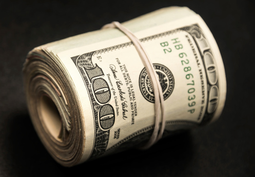American One Hundred Dollar Bill「Roll of Money」:スマホ壁紙(4)