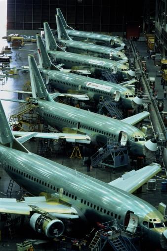 Passenger「Aircraft production, Boeing 737 passenger aircraft」:スマホ壁紙(0)