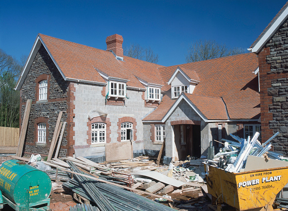 Brick Wall「View of Stable Block under reconstruction, nearing completion after restoration and rebuilding to form detached house.」:写真・画像(14)[壁紙.com]