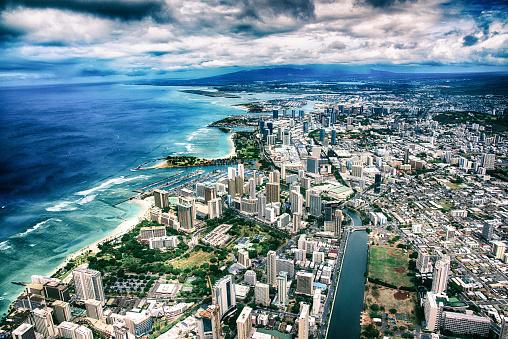 ハワイ ビーチ「首都ホノルル航空」:スマホ壁紙(19)