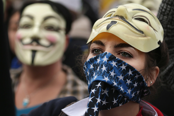 """Mask - Disguise「Anti-Government """"Million Mask March"""" Held In DC」:写真・画像(15)[壁紙.com]"""