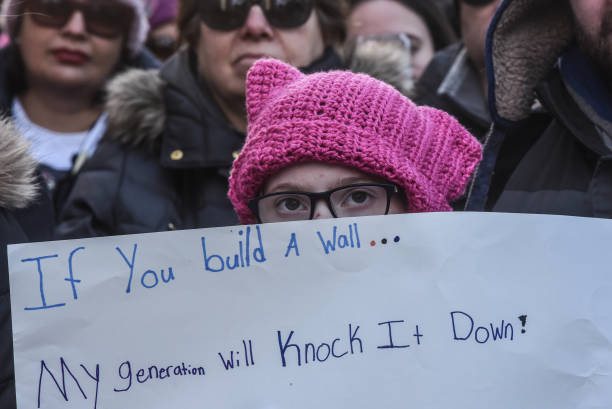 Women's Issues「Huge Crowds Rally At Women's Marches Across The U.S.」:写真・画像(6)[壁紙.com]
