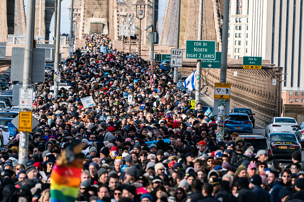 Brooklyn Bridge「Jewish Solidarity March Held In Response To Rise In Anti-Semitism」:写真・画像(1)[壁紙.com]
