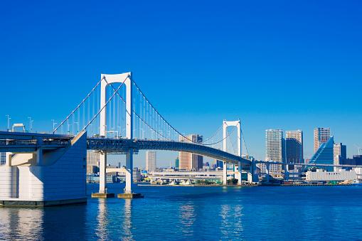Tokyo - Japan「Rainbow Bridge」:スマホ壁紙(1)