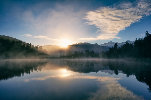 Tranquil Scene「Dawn At Lake Matheson」:スマホ壁紙(10)