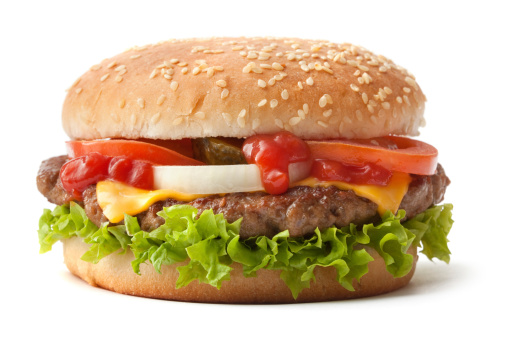 Hamburger「Hamburger on sesame seed bun with fixings」:スマホ壁紙(12)