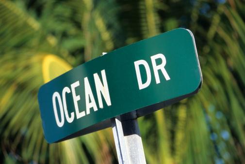 Miami Beach「South Beach, 'Ocean Drive' street sign, Miami, FL」:スマホ壁紙(8)