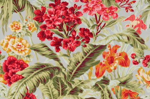 Floral Pattern「South Beach Floral Close Up Vintage Fabric」:スマホ壁紙(1)