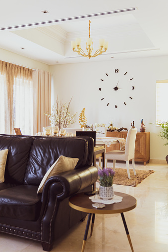 Sideboard「Beautifully Decorated Living Room in a Luxurious Villa」:スマホ壁紙(12)