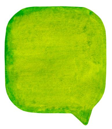 マンガ「グリーン watercolour 吹き出し」:スマホ壁紙(13)