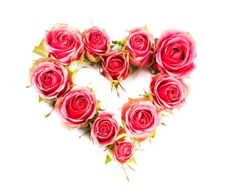バレンタイン「お気に入りのピンクのバラ型」:スマホ壁紙(12)