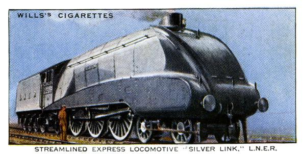Aerodynamic「Streamlined Express Locomotive 'Silver Link'」:写真・画像(9)[壁紙.com]