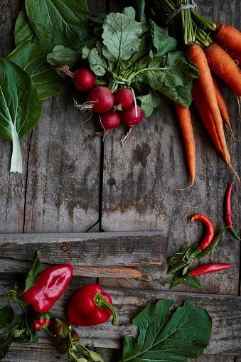 Rustic「Organic vegetables」:スマホ壁紙(7)