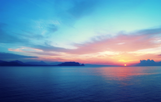 Sunset sea「Epic sunrise in South Europe」:スマホ壁紙(5)