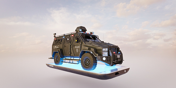 Armored Truck「Communication concepts: police car on cell phone」:スマホ壁紙(2)